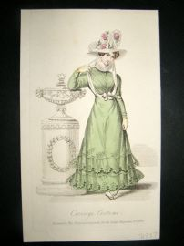 Lady's Magazine 1826 H/Col Regency Fashion Print. Carriage Costume 62